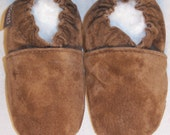 suede baby mocassins from Moxies baby shoes - suede shoes - suede moccs - handmade moccs -