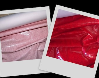 Sexy Shiny Vinyl Pleather Fetish Gothic Black Red Pink Quality Pvc Fabric BTY