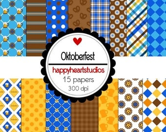 Digital Scrapbook  Oktoberfest-INSTANT DOWNLOAD