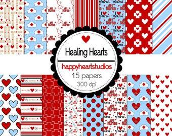 Digital Scrapbook HealingHearts-INSTANT DOWNLOAD