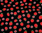 Strawberry and Flower Print Half meter nc52