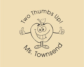 Two Thumbs Up! Custom Traditional Rubber Stamp