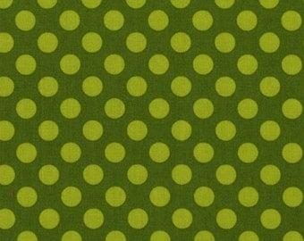 Fat Quarter - Ta Dot Moss Green Michael Miller Fabric CX1492-Moss