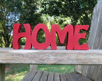 wood home sign shelf sitter or wall hanging choice of colors