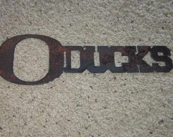 Oducks - University of Oregon Ducks Metal art