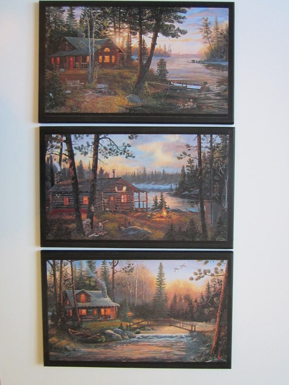 Rustic Cabin Wall Decor : Cabin signs rustic lodge theme wall decor plaques country