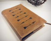 Leather Journal - Leather Sketchbook Cover - monogram - custom - personalize