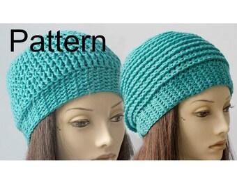 Reversible Crochet Hat Pattern, Hat PDF  Pattern, Beanie Pattern, Digital Download,