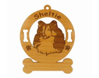 3936 Sheltie Head 2 Personalized Dog Ornament