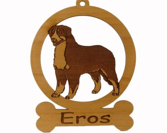 Bernese Mountain Dog Ornament 081714 Personalized With Your Dog's Name