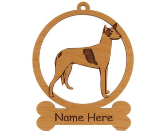 Ibizan Ornament 083358 Personalized With Your Dog's Name