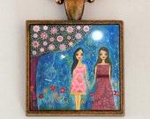 Girlfriend Necklace - Friendship Necklace - Sister Necklace - Sister jewelry -Girlfriend Gift - Girlfriend Jewlery