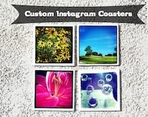 Instagram Coasters - Instagram Photography, Ceramic Decorative Tiles, Set of 4 - Custom Photo Coaster