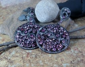 Tourmaline and Sapphire Sterling Statement Post Earrings