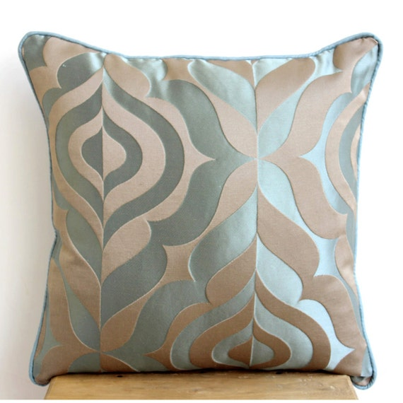 Teal Decorative Bed Pillows : Luxury Teal Blue Throw Pillows Cover For Couch