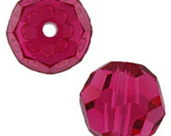 Birthstone kits July Birthstone 8mm Ruby Swarovski crystal beads Style 5000 (6)