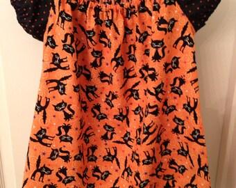 Girls Halloween Kitty Cat dress size 4 ready to ship
