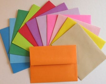 PE28 25 pc. Solid Color, White or Vanilla Envelopes A2 60 lb. 4 3/8 x 5 3/4 (11.11cm x 14.61cm)