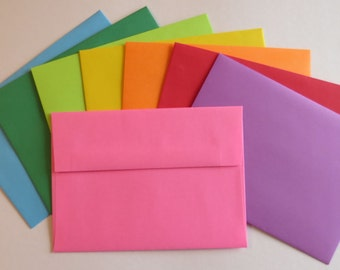 PE30  25 pc. Color Envelopes A7 60 lb. 5 1/4 x 7 1/4 (13.34cm x 18.42cm)
