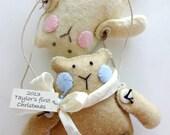 Christmas Ornament Teddy Bear Sewing Pattern -PDF e Pattern