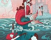 Little Mermaid Literary 8x12 inch mini-poster