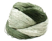 300 Yards Hand Dyed Thread Cotton Crochet Thread Size 10 3 Ply Specialty Thread Olive Green Ombre Thread Hand Painted Fine Cotton Yarn