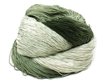 300 Yards Hand Dyed Cotton Crochet Thread Size 10 3 Ply 6 Shades of Olive Green Ombre From Dark Olive Green Pale Sage Green Fine Cotton Yarn