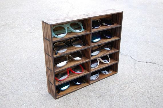 10ct Wallmount Sunglasses Organizer Display Rack Stand Case