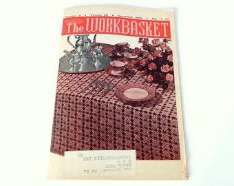 Vintage 1960 Work Basket Needlework Booklet Magazine