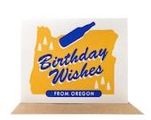 Birthday Wishes from Oregon -- Fun Eco-friendly Folded Card