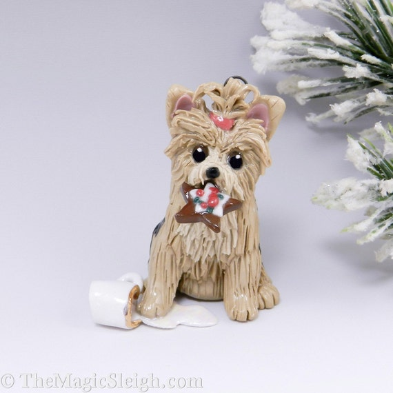 Yorkshire Terrier Christmas Ornament Figurine by ...