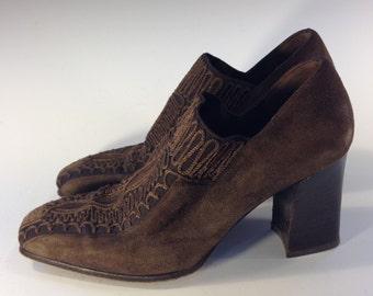 Enzo of Roma Chunky Viintage Size 6.5 Heels