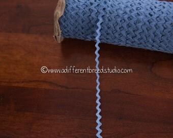 "3 yards 1/4"" Lighter Blue - Vintage Fabric Trim Juvenile 70s New Old Stock Cotton"