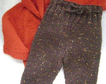 Hand knit wool soaker pants size 6-9 months