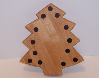 Mini Christmas Tree Cutting Board Handcrafted from Maple Hardwood