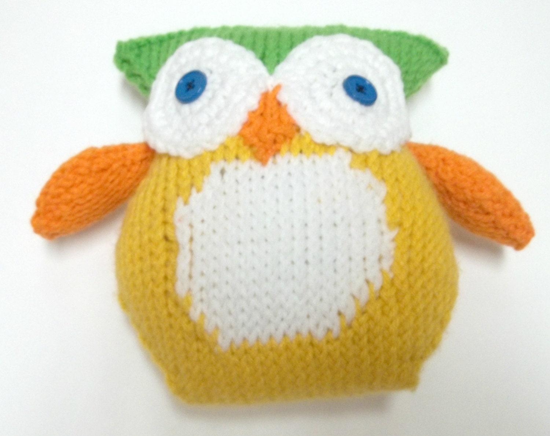 Amigurumi Owl Knitted Toy Stuffed Animal by ...