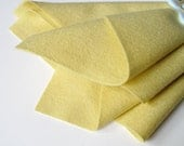 Baby Yellow, Wool Felt Sheet, 100% Pure Merino, Choose From Three Sizes, Nonwoven Fabric, Pastel Felt, Baby Toys, Toxin Free Felt, Custard