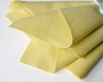 Baby Yellow, Pure Wool, Felt Sheet, 100% Merino, Choice of Three Sizes, Nonwoven Fabric, Pastel Felt, Baby Toys, Certified Safe, Wool Felt