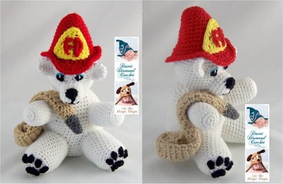 Crochet Pattern 086 - Fireman Bear - Angel Bear