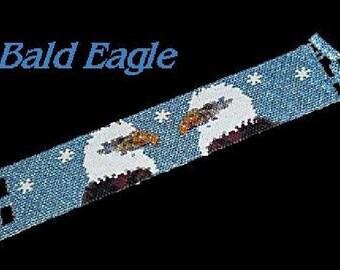 American Bald Eagles Bracelet - PDF Beadweaving Pattern