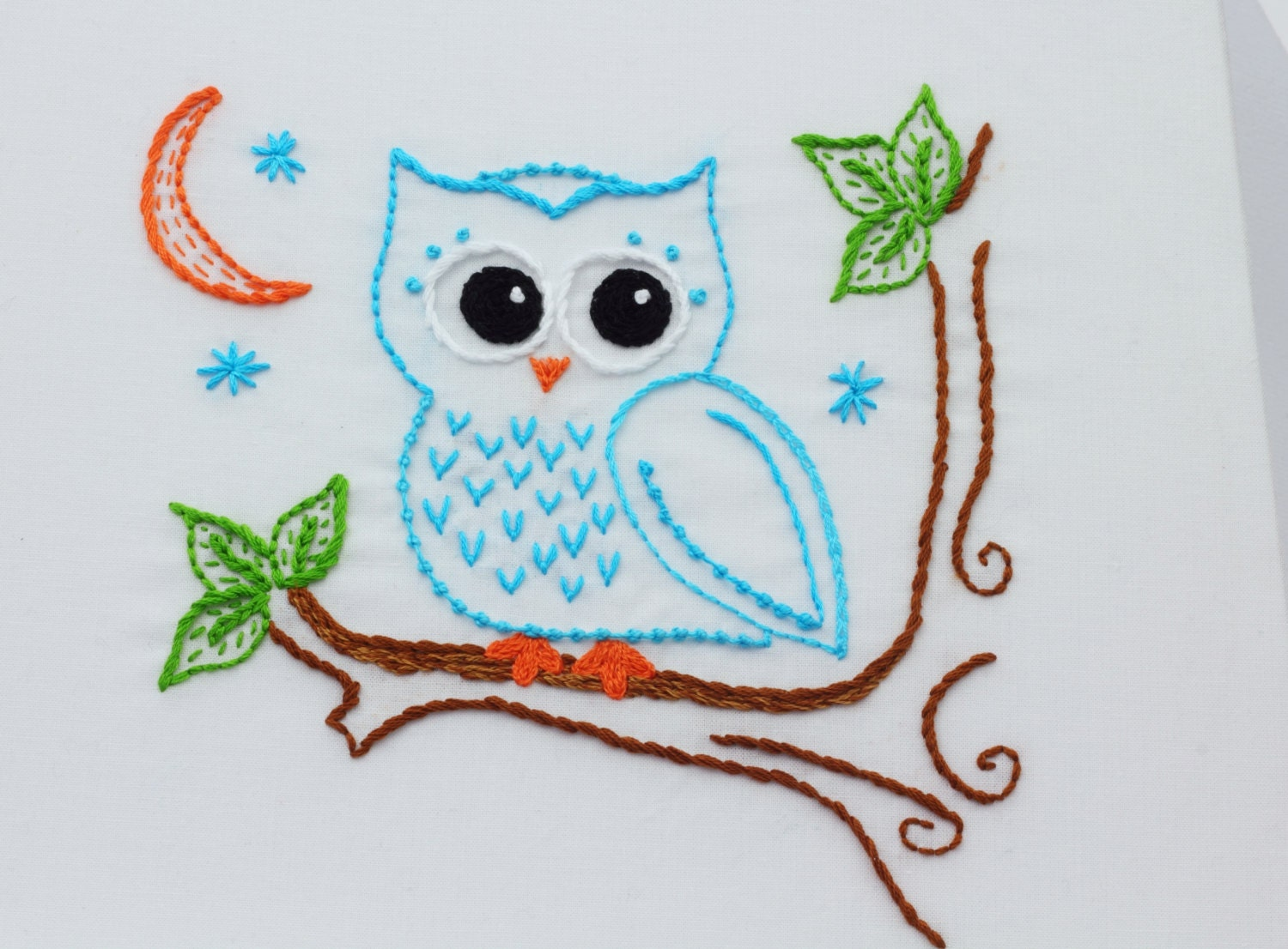Owl Embroidery Pattern Hand Embroidery Pattern Owls Owl