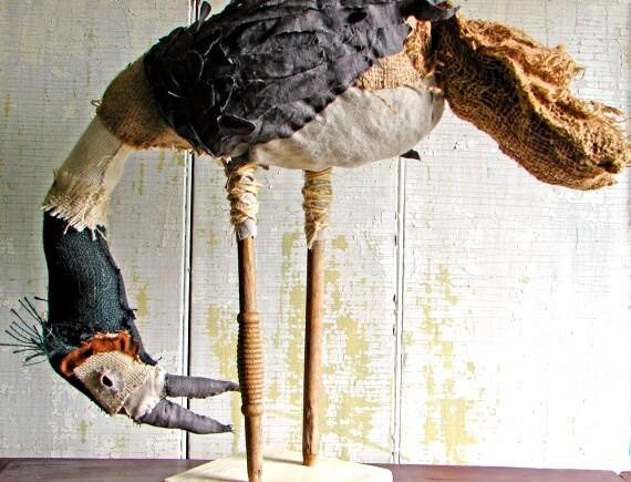 Reserved for NN- Bird Primitive Fabric Bird