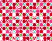 Christmas Fabric Peppermint Dot by Michael Miller Fabrics 1/2 Yard