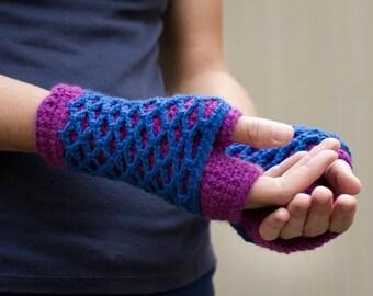 Crochet Pattern - LayerLove Fingerless Gloves (sizes toddler - lg. Adult)