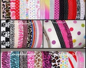 Printed Stretch Headbands Pick a Pair from 53 Fold over Elastic Interchangeable 5/8 inch Rainbow Chevron Damask Tie Dye Zebra Leopard Baby