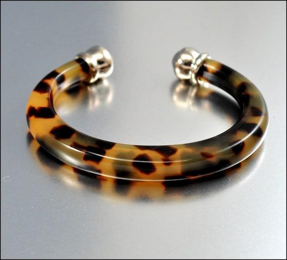 vintage tortoise shell bracelet tortoiseshell cuff bracelet