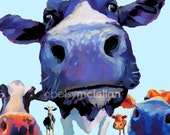 Cow Herd - Graphic Style - Giclee Print