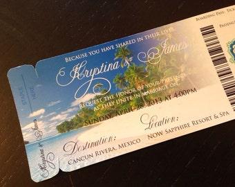 Magnet Save The Date Beach Wedding Invitation