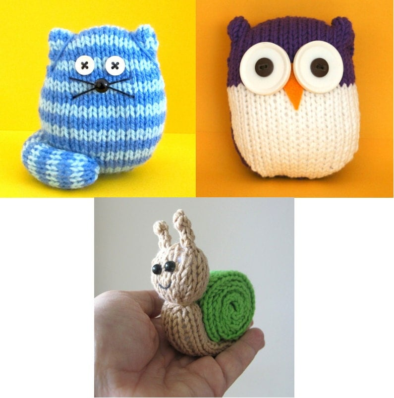Quick and Easy 3 pack Cats Owls and Snail INSTANT