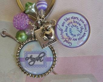 Personalized Friends Keychain
